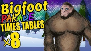 Bigfoot Teaching Multiplication Times Tables x8 Educational Math Video for Kids