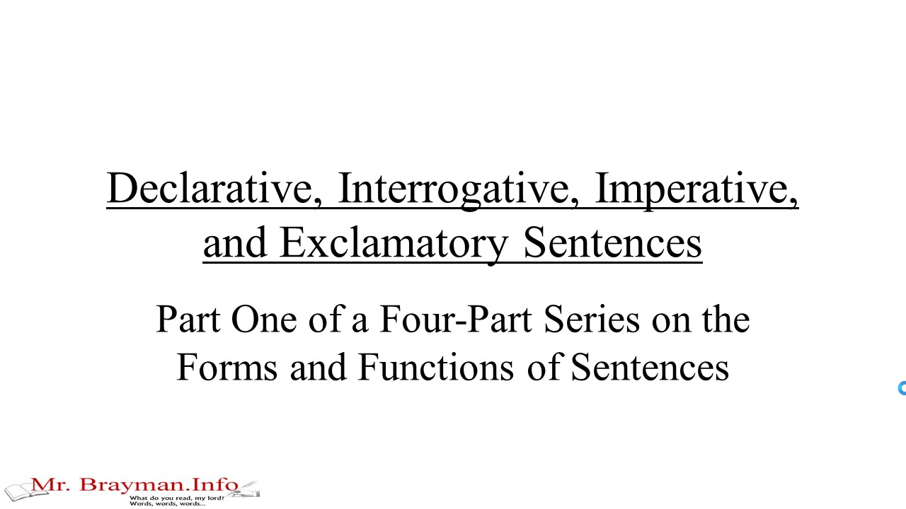 Worksheets Imperative And Exclamatory Sentences Worksheet declarative interrogative imperative and exclamatory sentences youtube