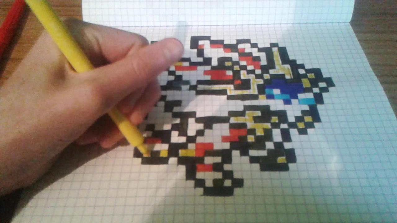 Dessin Pixel Pokemon Solgaleo
