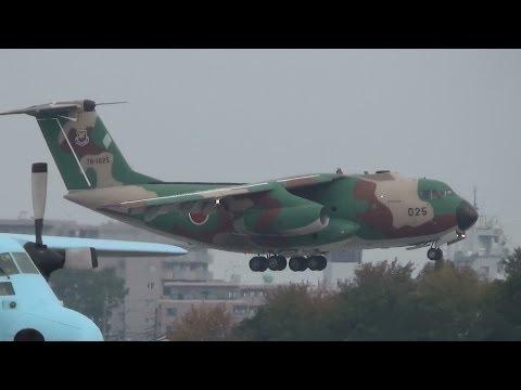 入間基地航空祭 C1輸送機 360オーバーヘッドランディング&ショートフィールドランディング 20131103