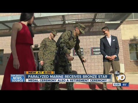 Paralyzed Marine receives combat medals