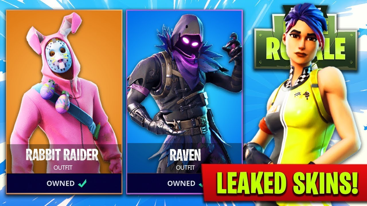 new leaked skins in fortnite easter bunny raven more fortnite battle royale new skins - new easter fortnite skins