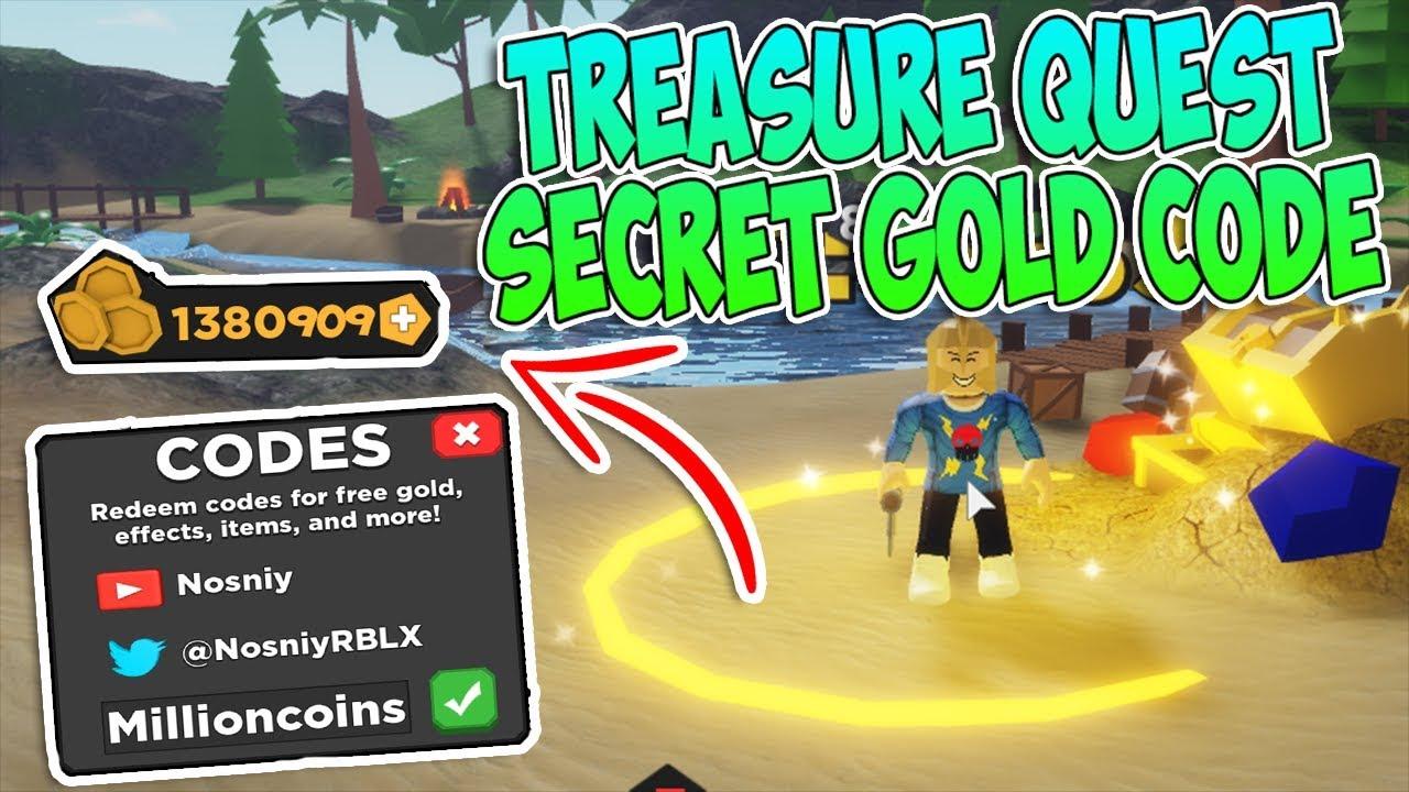 Secret Gold Code Treasure Quest Roblox Youtube
