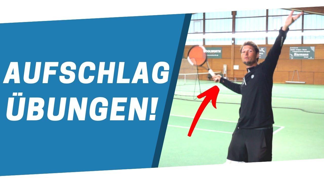 TENNIS AUFSCHLAG: Die besten Übungen
