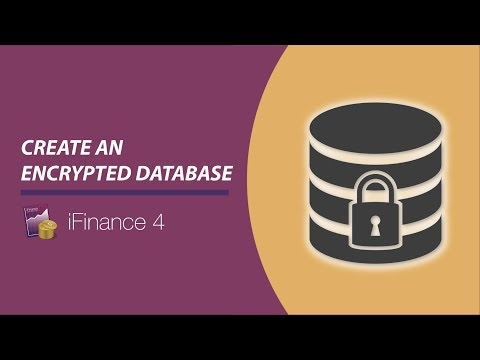iFinance 4 - Create an encrypted database (Encryption)