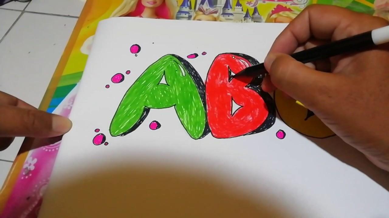 Mudah!!!! Bagaimana cara menggambar huruf 3 dimensi ...