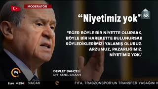 Bahçeli: Abdullah Gül'ün adaylığına ihtimal vermiyorum