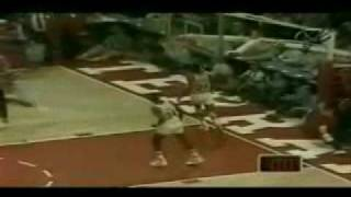 Michael Jordan breakaway dunk in college