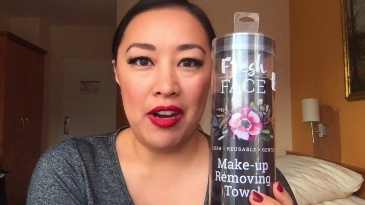 HealthyGirl Beauty Fresh Face Make Up Removing Towel Review - YouTube