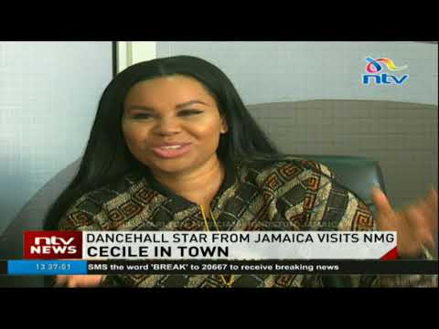 Dancehall star from Jamaica, Cecile Charlton visits Nation Media Group