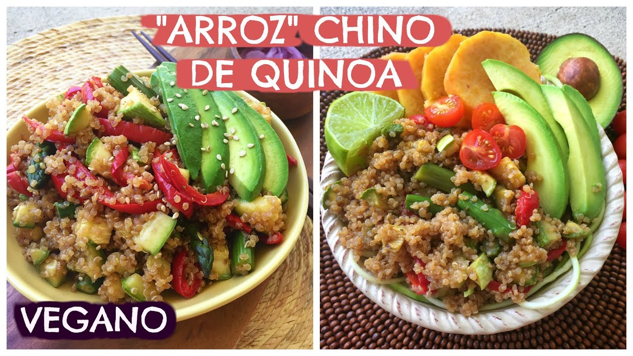 Comida cena vegana quinoa tipo arroz chino receta for Comidas y cenas saludables