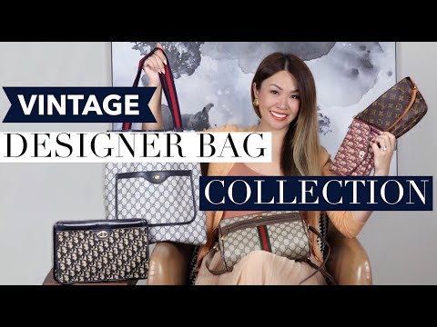 DESIGNER VINTAGE BAG COLLECTION + MOD SHOTS | Gucci, Dior, LV