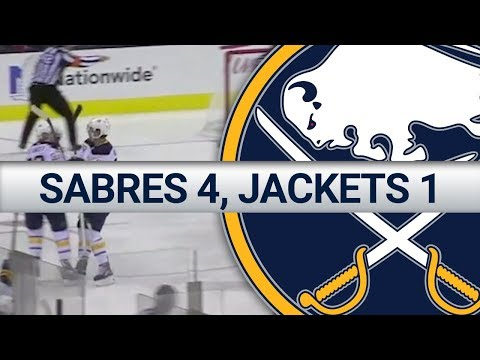 HIGHLIGHTS: Sabres 4, Blue Jackets 1