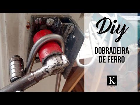DIY - Como dobrar ferros redondo maciço 3/8 para hairpin legs
