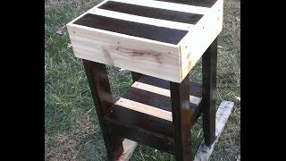 Pallet Furniture. How To Make A Pallet End Table