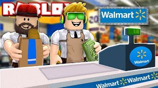 BUILDING MY OWN WALMART STORE in ROBLOX