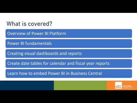 D365 BC Reporting: Power BI Fundamentals Training | Western Computer