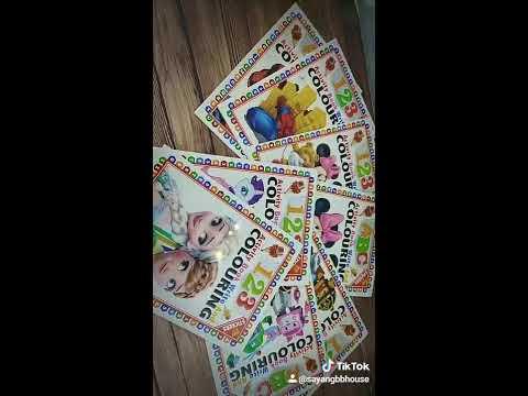 Kids early learning education books ( my little pony , frozen)