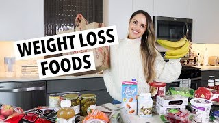WEIGHT LOSS FOOD HAUL | What I eat to lose weight in a week (Come healthy grocery shopping with me!)