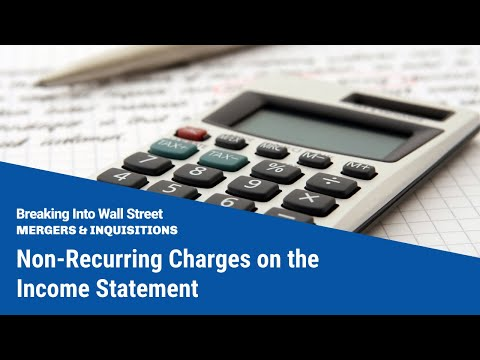 Non-Recurring Charges on the Income Statement