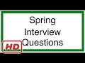 Java interview q a spring interview questions and answers mp3