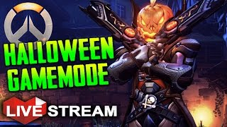 Overwatch Halloween Terror Event! | OMNIC ZOMBIE INVASION GAMEMODE! | Live Stream (60fps)