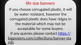 life size banners | life size poster printing | 1-888-880-4843