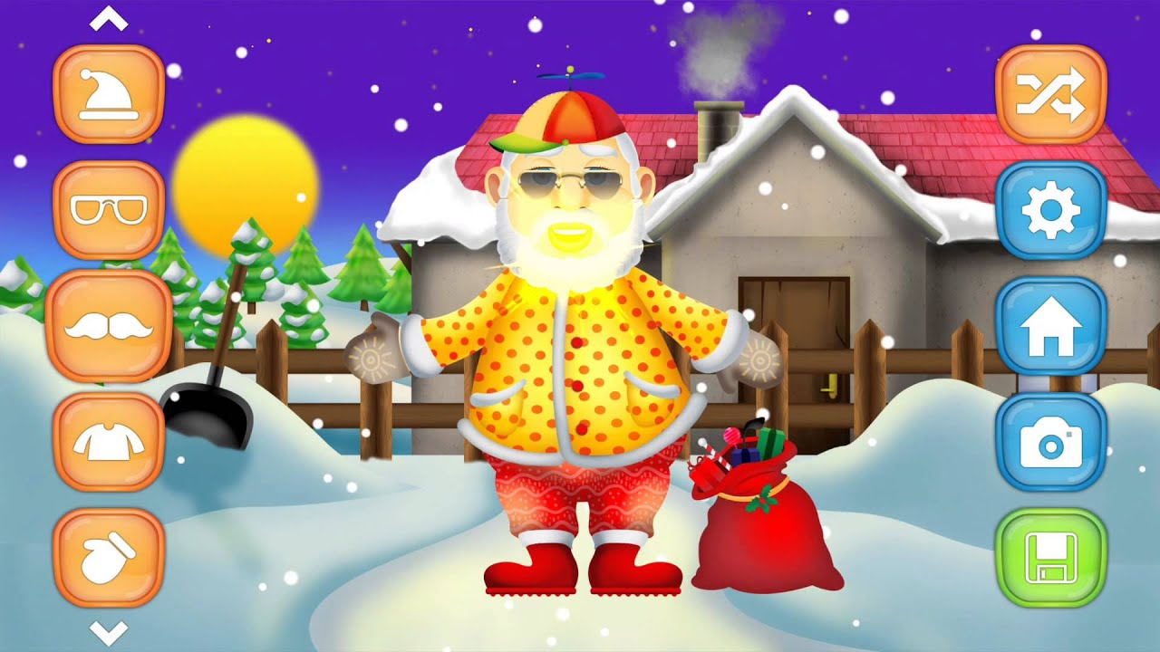 santa dress up fun christmas game for android iphone ipad and