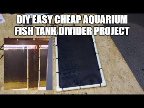 Type 1 - Make A Cheap & Easy Diy Aquarium Fish Tank Divider.