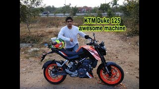 KTM Duke 125 First Ride Review and Walkaround in Hindi #BPC