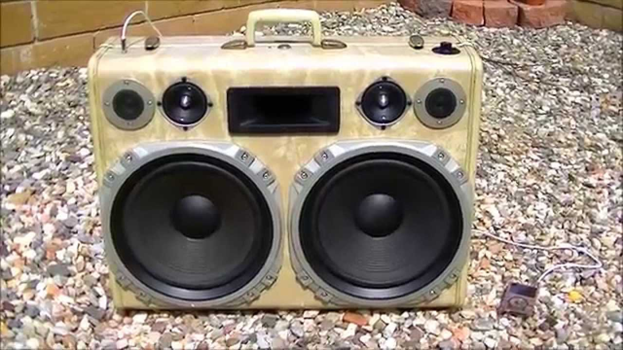SOLD) How to build a Vintage Suitcase Boombox Rechargable Demo ...