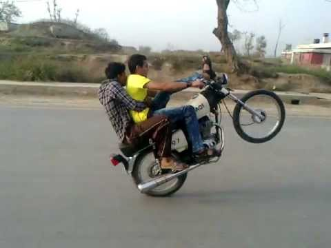 Bike wheeling in Narowal by Golden