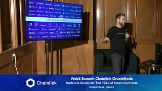Chainlink Web3 Summit OracleNode: Hedera & Chainlink: The PB&J of Smart Contracts