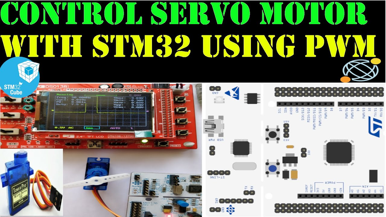 Servo motor control using STM32 and PWM || HAL || CubeMx || Keil