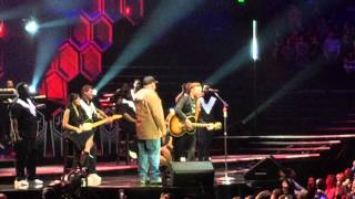 Justin Timberlake and Garth Brooks- I've got friends in low places. Nashville concert 12/19/14