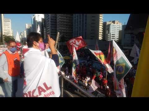Nilza, pela Intersindical, neste #24JForaBolsonaro na Paulista