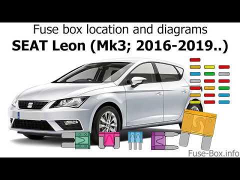 Fuse box location and diagrams: SEAT Leon (Mk3/5F; 2016-2019...) - YouTube | 2014 Seat Leon Fuse Diagram |  | YouTube