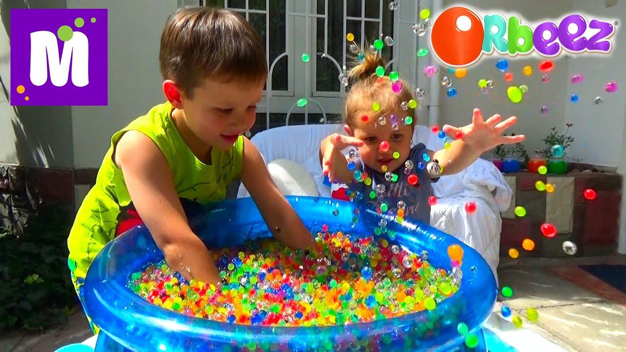 ORBEEZ шарики целый бассейн с сюрпризами - YouTube