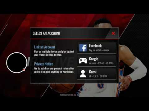 Account giveaway NBA Live Mobile - 2016-12-16