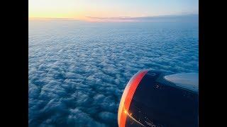 Ранний взлёт из Москвы Шереметьево SVO. Сухой суперджет-100SSJ-100. Аэрофлот Aeroflot