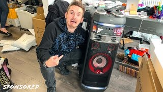 CHRISTMAS CAME EARLY! (CRAZY UNBOXING) LG XBOOM FAMILY! thumbnail
