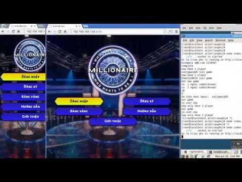 [Multiplayer-demo] ai là triệu phú node.js game