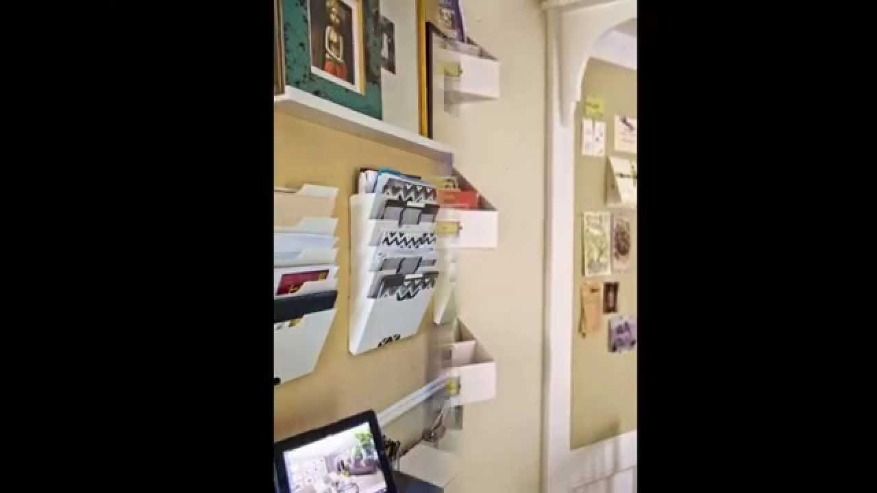 how to build hanging wall file organizer by