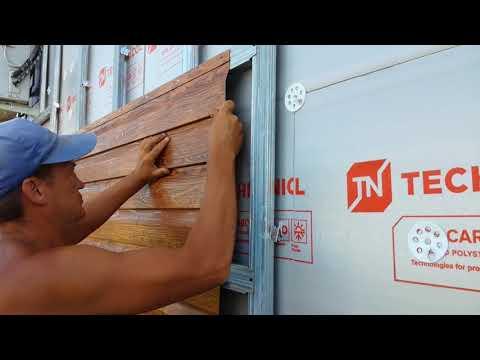 Монтаж  металлосайдинга в Краснодаре. Утепление фасада под сайдинг. Обрешетка под сайдинг