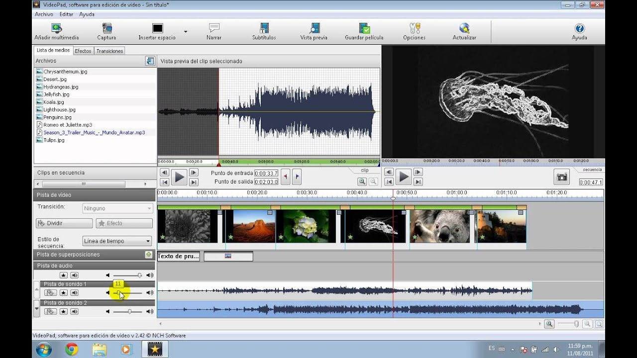 Tutorial VideoPad Edicion de audio - YouTube