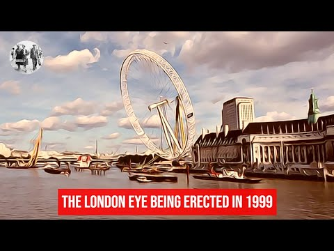 The London Eye being erected