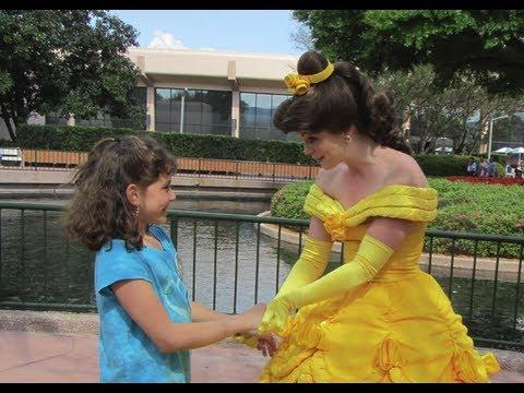 Meeting Princess Belle in Epcot -Disney World