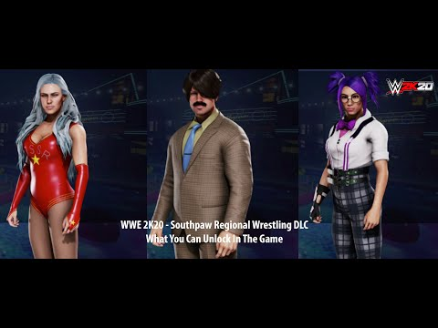 WWE 2K20 DLC - Southpaw Regional Wrestling - What You Can Unlock (XB1)