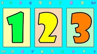 Counting Songs for Children 1 20 Numbers to Song Kids Kindergarten Toddlers Animal Number.mp4