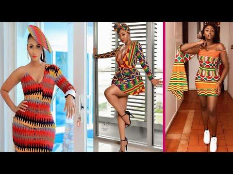 Elegant kente Gown Styles 2020 Ghana Trending Fashion Styles